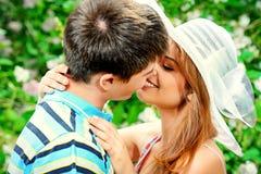 первый поцелуй Стоковые Изображения RF