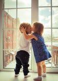 первый поцелуй Стоковая Фотография