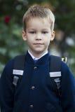 Первый раз идет к школе Стоковые Фото