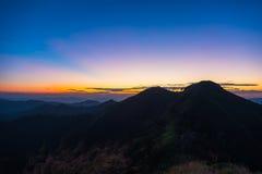 Первый свет солнца Стоковые Изображения