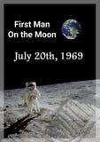 Первый человек на луне находился в 1969 стоковое фото rf