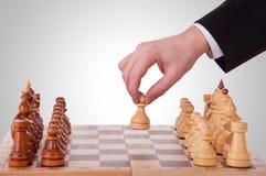 первый шаг шахмат Стоковые Изображения
