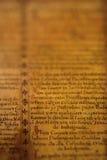 пергамент детали средневековый Стоковые Изображения