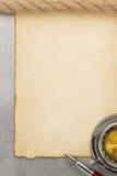 Пергамент и компас Стоковая Фотография RF