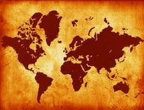 пергамент карты Стоковые Фото