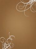 пергамент коричневой бумаги завихряется белизна Стоковые Фото