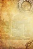 пергамент предпосылки старый бумажный Стоковое Фото