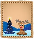 Пергамент 1 темы оленей рождества Стоковое Изображение