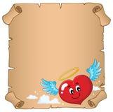 Пергамент 5 темы сердца валентинки Стоковая Фотография