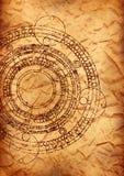пергамент maya календара старый иллюстрация вектора