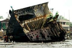 Перебивание работы Бангладеш корабля Стоковые Изображения RF