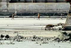 Перебивание работы Бангладеш корабля Стоковая Фотография