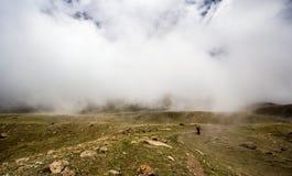 Перевал в киргизских горах Стоковое Изображение
