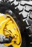 Перевезите колеса и подвес на грузовиках трактора или другого Стоковые Изображения