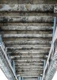 Переверните старых лестниц цемента Стоковые Изображения RF