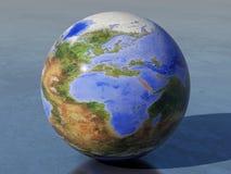 Перевернутые глобус, Африка и Европа земли иллюстрация вектора