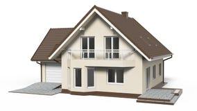 перевод дома 3d изолированный на белой предпосылке иллюстрация вектора