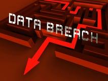 Перевод мотыги 3d системы нарушения требований безопасности кибер Иллюстрация вектора