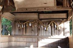 Перевод: Перевод: Письма ` на синтоистской святыне, ` Naganohachimangu в Yamaguch Стоковые Фотографии RF