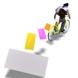 перевод почтальона приглашений bike 3d Стоковая Фотография