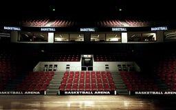 Перевод предпосылки арены баскетбола отсутствие людей стоковые изображения rf
