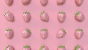 Перевод предпосылки 3d абстрактной розовой картины клубники минимальн иллюстрация вектора