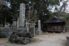 Перевод: ` Святыни Uchino Oimatsu ` в Iizuka, Фукуоке, Японии Стоковое Фото