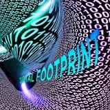 Перевод следа 3d кибер вебсайта следа ноги цифров бесплатная иллюстрация