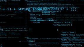 перевод 3D абстрактных блоков кода расположенных в виртуальном космосе Стоковые Изображения RF