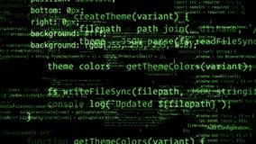 перевод 3D абстрактных блоков кода расположенных в виртуальном космосе Стоковые Фото