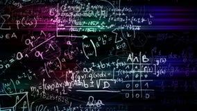 перевод 3D абстрактных блоков математических формул расположенных в виртуальном космосе стоковые изображения rf