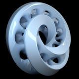 перевод 3d Блокировать двойником поверхности mobius иллюстрация вектора