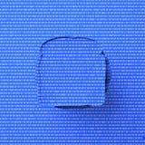 перевод 3d голубого цифрового сандвича иллюстрация штока
