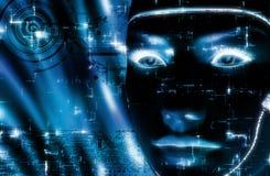перевод 3D женской стороны робота Стоковые Изображения RF