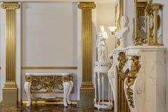 перевод 3d залы в классическом renderer короны кино 4D стиля стоковые фото