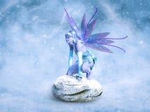 перевод 3D милой феи зимы иллюстрация вектора