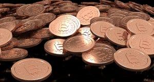 перевод 3D монетки Bitcoin Стоковое фото RF