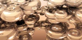 перевод 3D предпосылки с золотым торусом Стоковое Изображение
