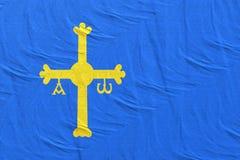 перевод 3d флага общины Астурии иллюстрация вектора