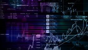 перевод 3D фондовых индексов в виртуальном космосе Экономический рост, рецессия стоковое изображение