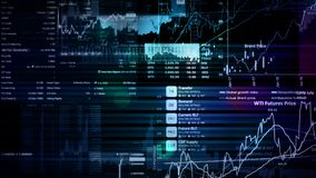 перевод 3D фондовых индексов в виртуальном космосе Экономический рост, рецессия стоковые фотографии rf