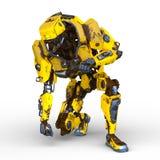 перевод 3D CG робота иллюстрация штока
