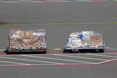Перевозимый самолетами груз Стоковая Фотография