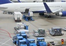 Перевозимый самолетами груз Стоковая Фотография RF