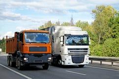 перевозить на грузовиках Стоковое Изображение