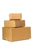перевозка груза гофрированная коробкой Стоковые Фото