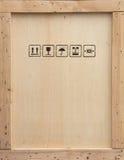 перевозка груза клети деревянная стоковое изображение