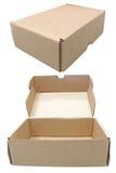 перевозка груза коробки коричневая Стоковые Фото