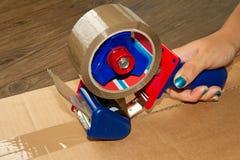 перевозка груза коробки Стоковое фото RF