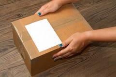 перевозка груза коробки Стоковая Фотография